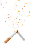 Cigarette. This is a broken cigarette Stock Photos