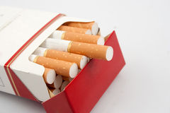 Cigarette. Isolated on white background Royalty Free Stock Photo