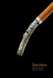 Cigarette. A Cigarette butt  long ash Royalty Free Stock Photo