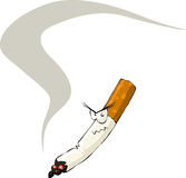 Cigarette. On a white background, vector royalty free illustration