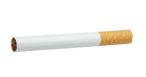 Cigarette. Object on white background royalty free stock image