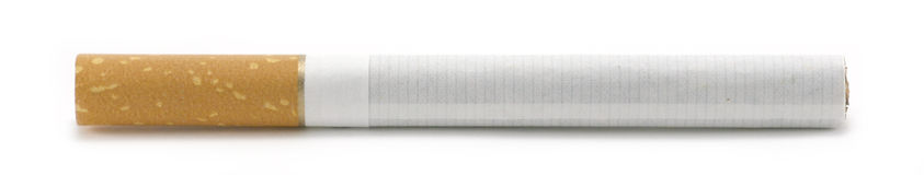Cigarette. Isolated on white background - macro image Royalty Free Stock Photo