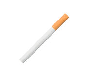 Cigarette. One cigarette isolated over white background Stock Photo