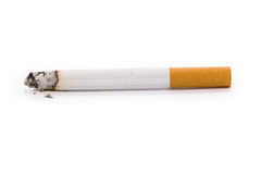 Cigarette. A Cigarette with white background Royalty Free Stock Photo