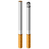 Cigarette. Vector illustration of two cigarettes Stock Photography