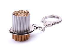 Cigarette addicted Stock Image