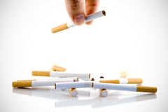 Cigarette and addiction Royalty Free Stock Image