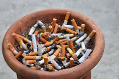 Cigarette addiction Stock Photography