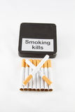 Cigarette addiction Royalty Free Stock Photo