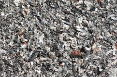 Cigarette ash in the ashtray Stock Photos