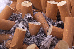 Cigarette ash ashtray Royalty Free Stock Photos