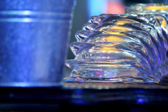 Cigarette ash trays in nightclub bar close-up Stock Photography