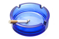Cigarette and ashtray royalty free stock photo