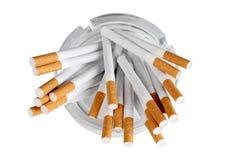 Cigarette and ashtray Stock Photo