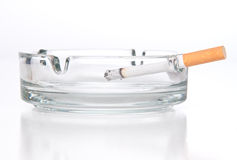 Cigarette in ashtray Royalty Free Stock Photo