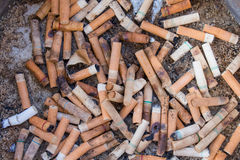 Cigarette and ashtray Stock Image