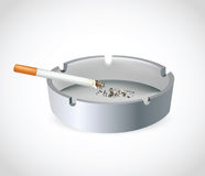 Cigarette in Ashtray Royalty Free Stock Photography