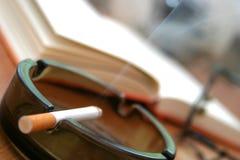 Cigarette in ashtray - close-up Stock Image