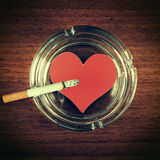 Cigarette in Ashtray Royalty Free Stock Images
