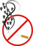 Cigarette avec des crânes Image stock
