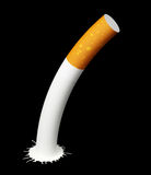 Cigarette with blot on black Stock Image