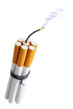 Cigarette bomb Royalty Free Stock Photography