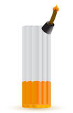 Cigarette bomb illustration design Stock Image