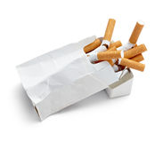 Cigarette box Stock Image