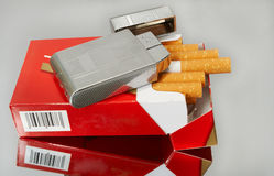 Cigarette box Royalty Free Stock Images