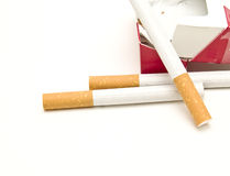 Cigarette box Stock Image