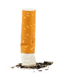 Cigarette butt with ash Royalty Free Stock Photos