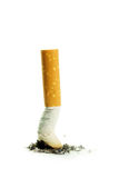 Cigarette butt with ash Stock Photography