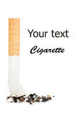 Cigarette butt  isolated over white Royalty Free Stock Images