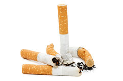 Cigarette isolated over white Royalty Free Stock Photos