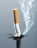 Cigarette butt with smoke Stock Photography