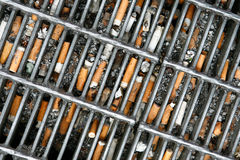 Cigarette butts Royalty Free Stock Images