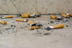 Cigarette butts royalty free stock image