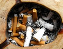 Cigarette butts Royalty Free Stock Photo
