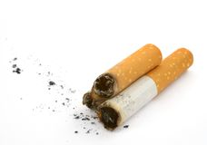 Cigarette butts and ash Royalty Free Stock Photos