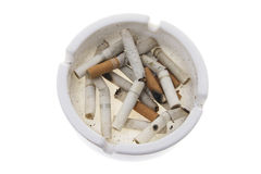Cigarette Butts on Ash Tray Royalty Free Stock Images