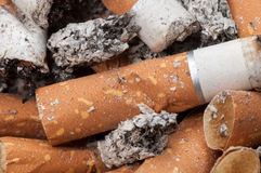 Cigarette butts and ashes Stock Photography