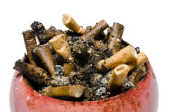 Cigarette butts in ashtray Stock Image
