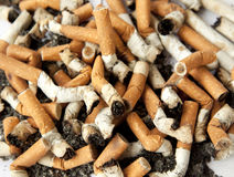 Cigarette butts, background Stock Photo