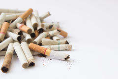 Cigarette Butts Background Stock Photography