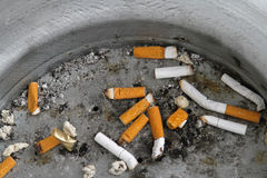 Cigarette butts Stock Image