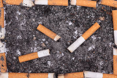 Cigarette butts Stock Photos