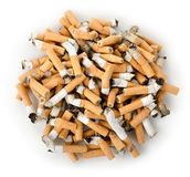 Cigarette butts isolated Stock Photography