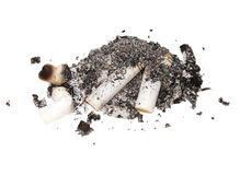 Cigarette butts isolated Stock Image