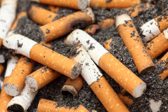 Cigarette butts Royalty Free Stock Photography
