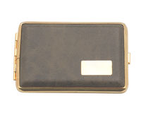Cigarette case. Isolated object. White background Royalty Free Stock Photo